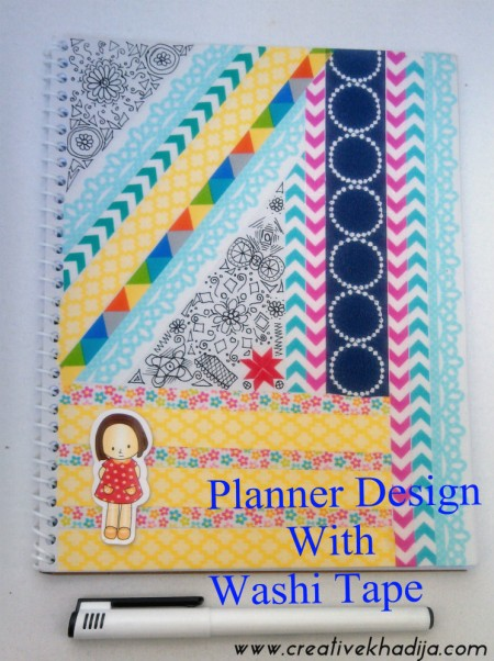 how to design planner cover using washi tape � indie crafts