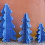 3-D Wooden Christmas Trees