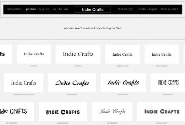 indie crafts wordmarkit