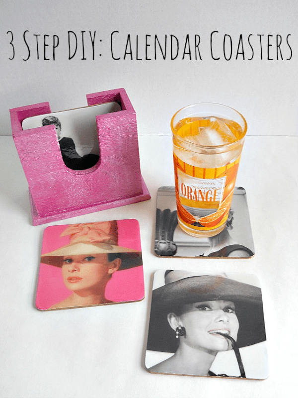 3 Step DIY Calendar Coasters