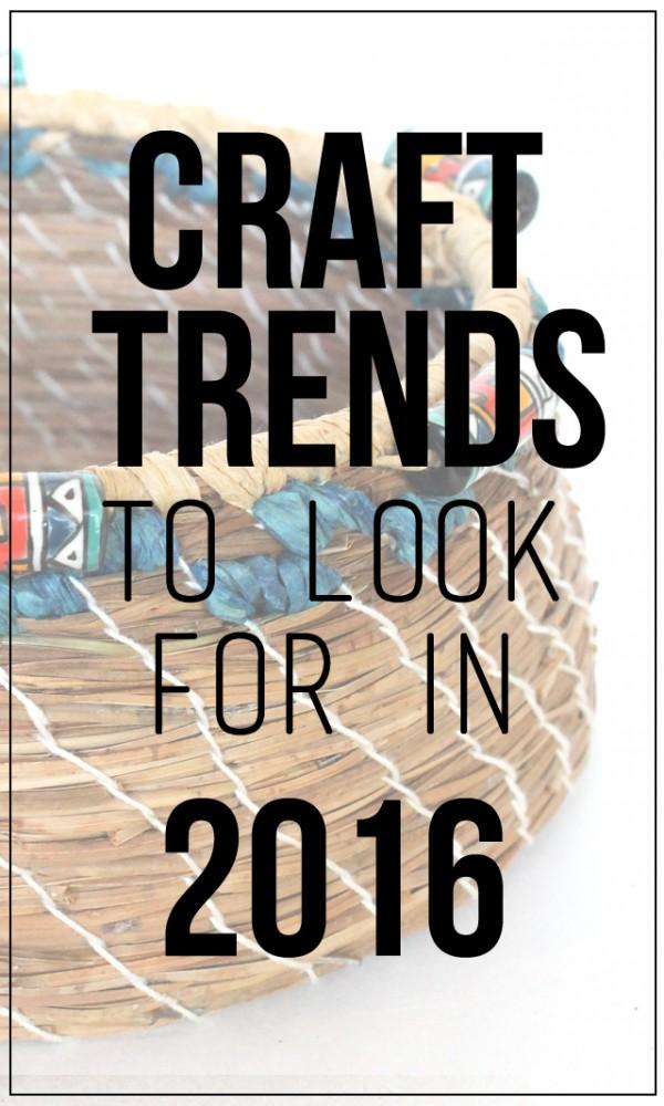 craft trends 2016