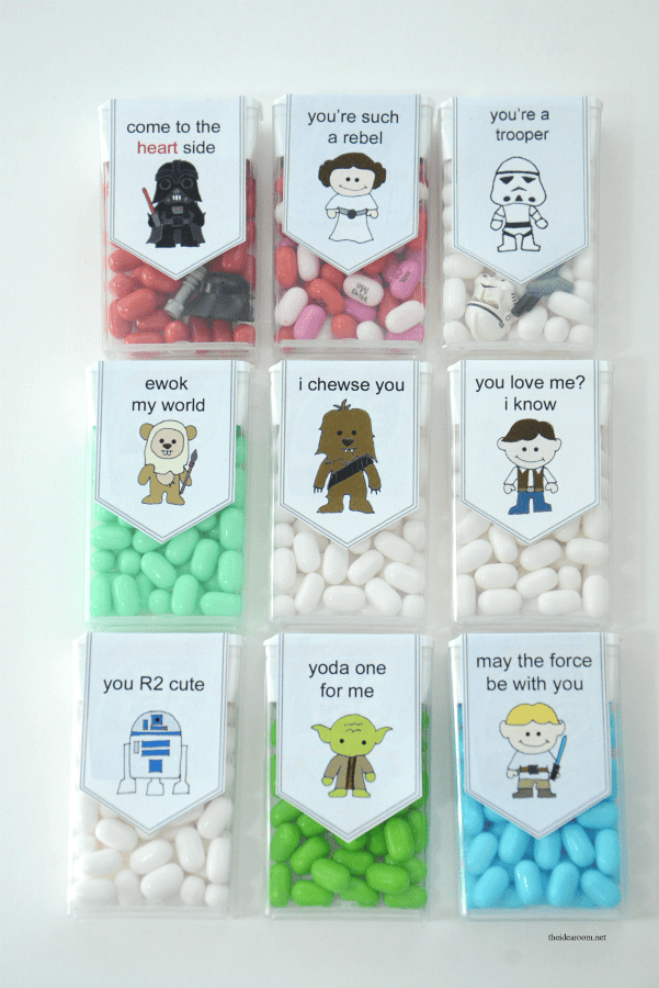 photograph regarding Printable Star Wars Valentine known as Totally free Printable Star Wars Valentines Indie Crafts