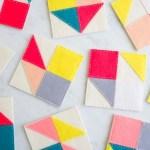 DIY Modular Felt Coasters
