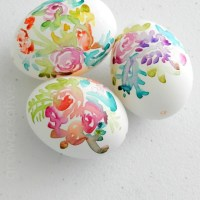 DIY Watercolor Flower Easter Eggs