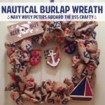 DIY Nautical Burlap Wreath for the Summer