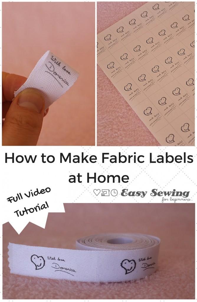 how to make fabric labels at home craft gossip bloglovin. Black Bedroom Furniture Sets. Home Design Ideas