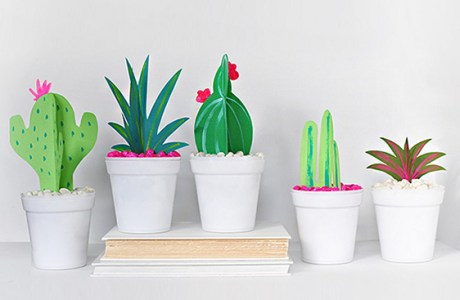 DIY Paper Cactus and Grasses