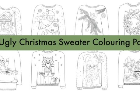 16 Ugly Christmas Sweater Coloring Pages