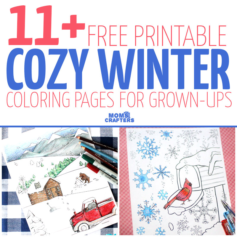 Free Printable Winter Adult Coloring Pages Indie Crafts
