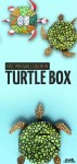 DIY Turtle Box Template and Coloring Page for Adults