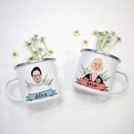 Etsy Feature - Custom Couple Portrait Mug