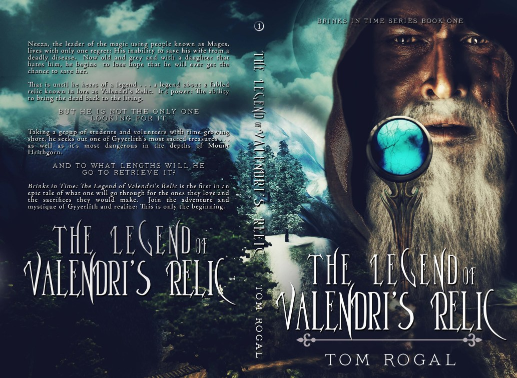 fantasy print cover design for tom rogal