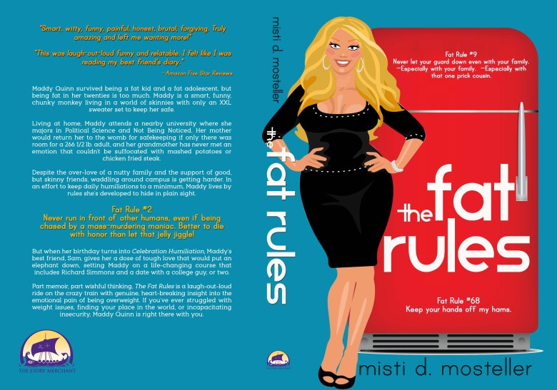 Cover reveal for The Fat Rules by Misti D Mosteller