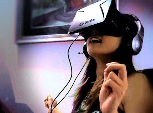 "Tanya ""Darklights"" Ka - IGR staff writer wears the Oculus Rift VR Headset"