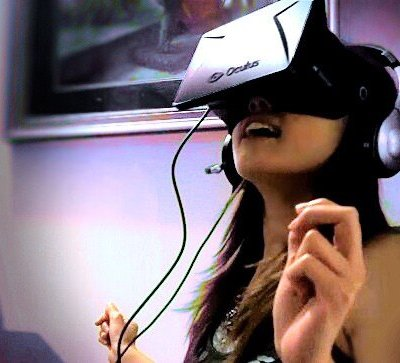 "Tanya ""Darklights"" Ka - IGR staff writer wears the Oculus Rift VR Headset"