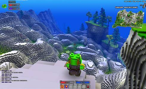 Cube World Mountains