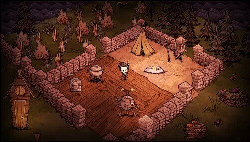 Don't Starve - official screenshot - building a happy home