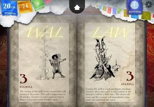 Steve Jacksons Sorcery spellbook pages