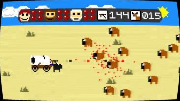 Super Amazing Wagon Adventure buffalo hunt screenshot