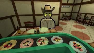 Jazzpunk screenshot - cowboy sushi