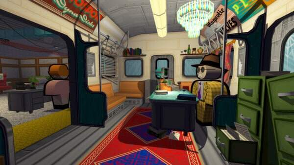 Jazzpunk screenshot - subway dinner