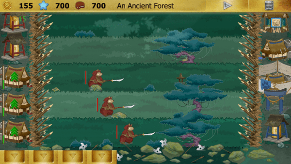 Ninja Cats screenshot - deep forest
