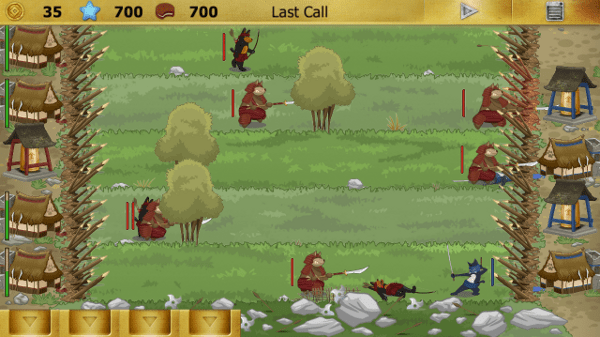 Ninja Cats screenshot - forest