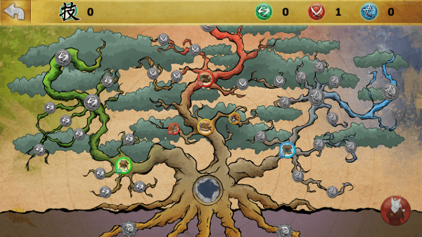Ninja Cats screenshot - skill tree