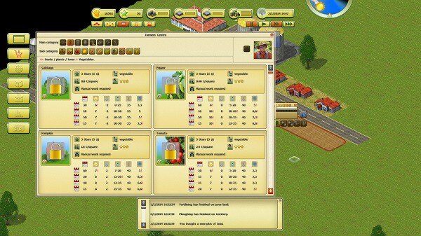 Farming World, buying crops