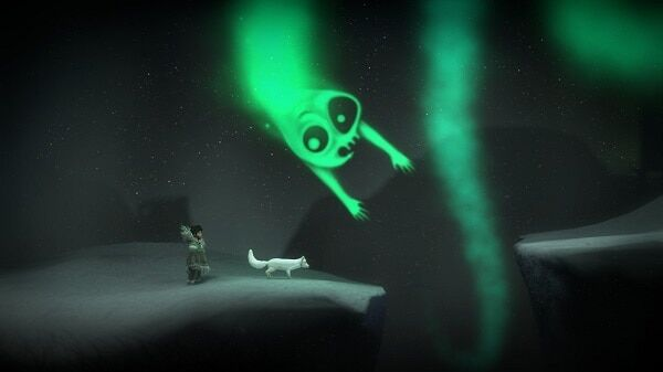 Never Alone, a ghost of the aurora borealis