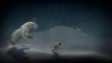 Never Alone, fleeing a polar bear