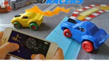 Print Your Own 3DRacers, Control 'em With Your Phone