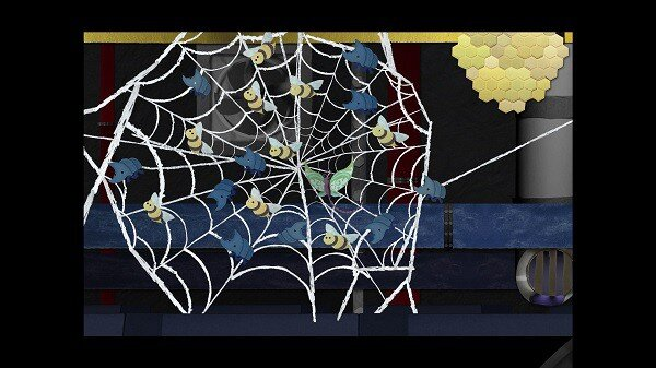 Ephemerid, a spider web