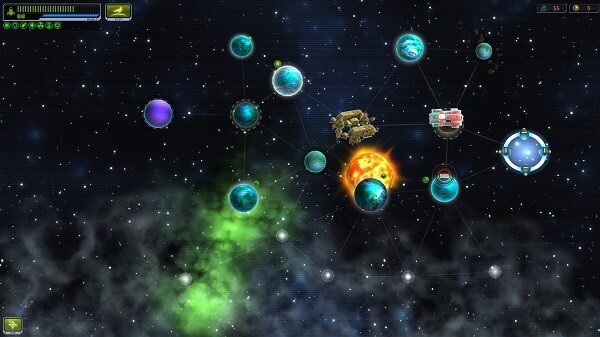 Space Rogue: the map screen