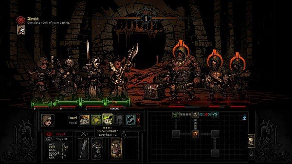 Darkest Dungeon: fighting positions