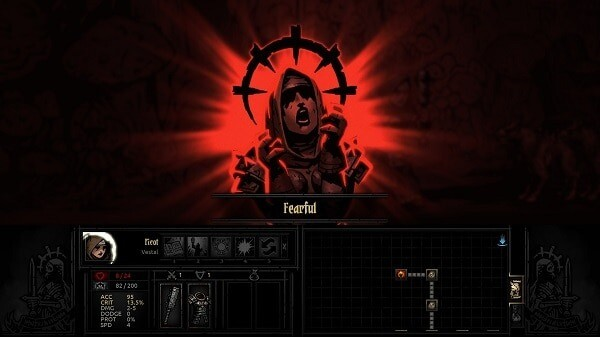 Darkest Dungeon: a character becomes fearful