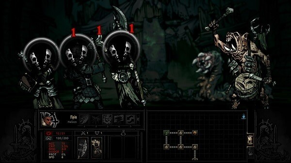 Darkest Dungeon: attacked by foul swine