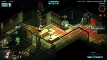 Invisible, Inc.: caught by a gard!