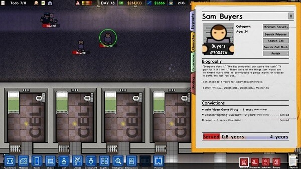 Prison Architect: an inmate's file