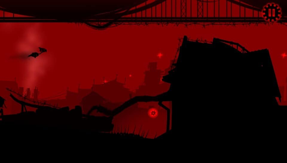 Red Game Without a Great Name game screenshot, flying