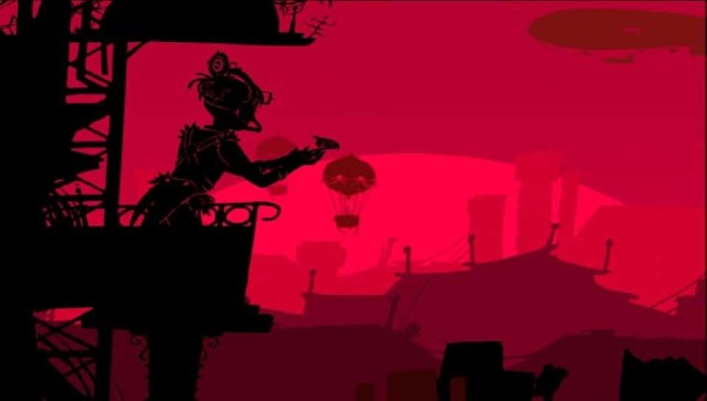 Red Game Without a Great Name game screenshot, releasing the bird