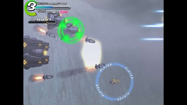 Sora game screenshot, dodging missiles