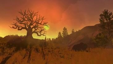 firewatch screenshot scraggly tree