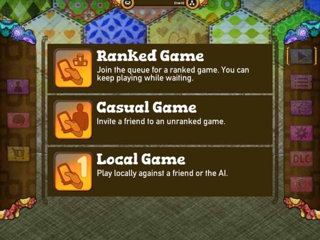 Patchwork by Uwe Rosenberg screenshot gameplay modes