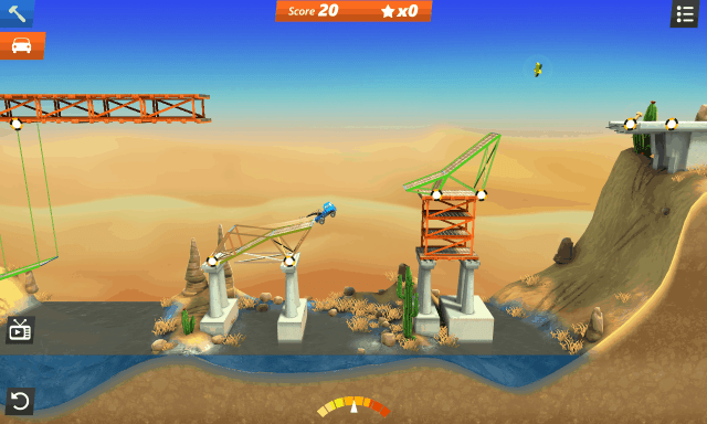 Bridge Constructor Stunts screenshot -  Canyon