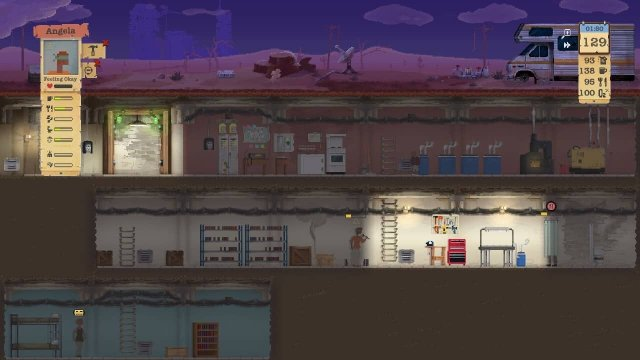 Sheltered game screenshot, painted shelter