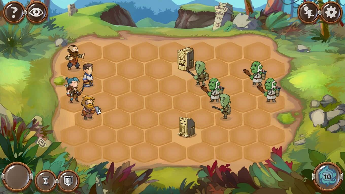 Braveland game screenshot, battle