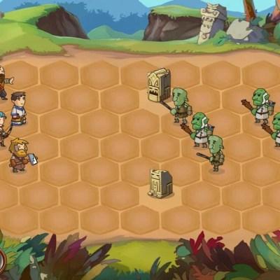 Braveland game screenshot, battle