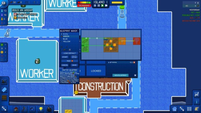Blueprint Tycoon game screenshot, Blueprint Maker