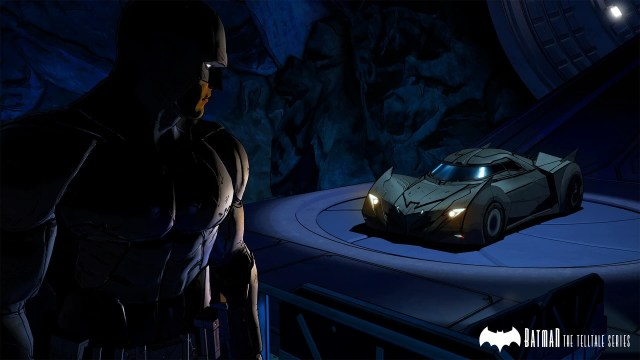 Batman game screenshot, Batcave and Batmobile